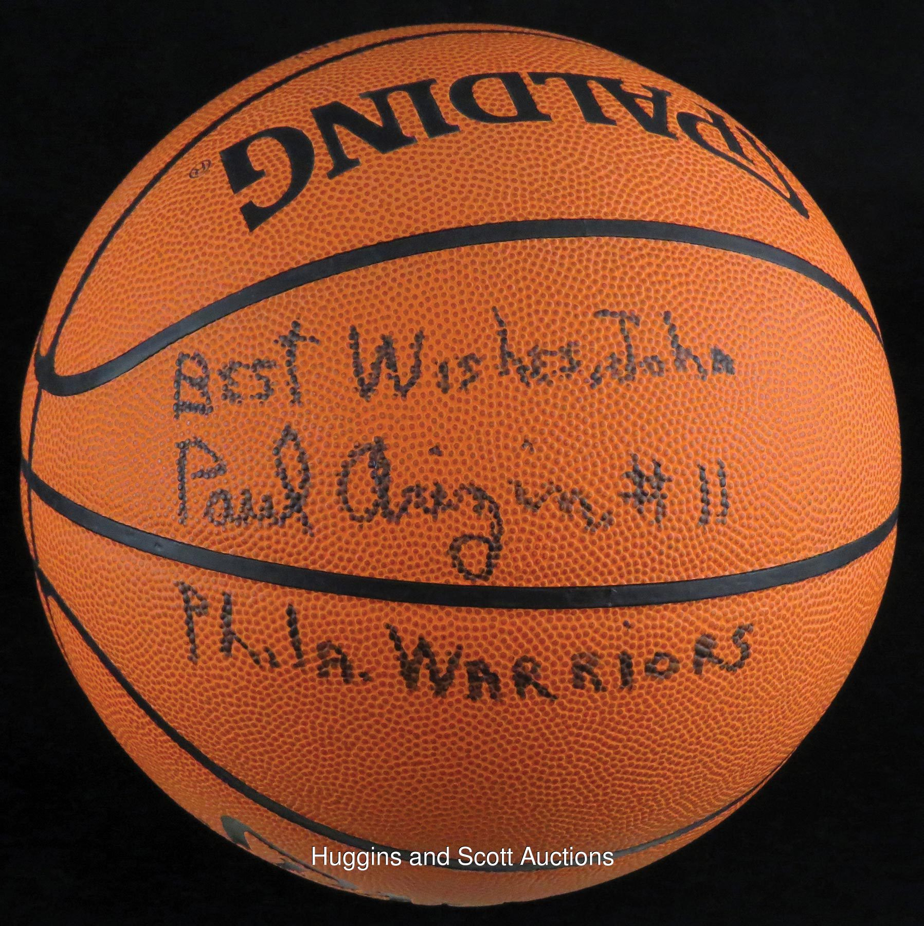 Paul Arizin Signed and Inscribed Basketball